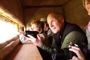 In the hide at Lewa Downs