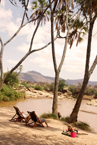 Down time by the Ewaso Nyiro River
