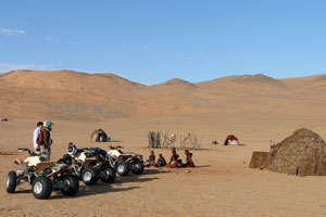 Visiting the Himba by quad bike in the Hartman Valley