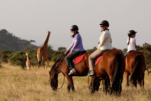 Riding at Lewa